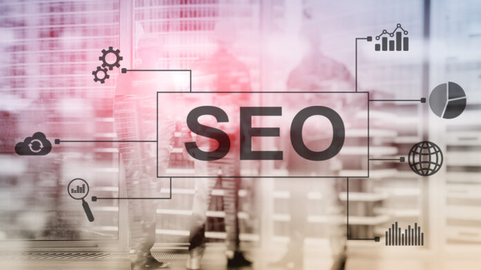 SEO - Search engine optimalisatienology concept on blurred background.